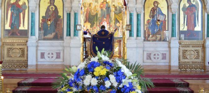В храме  Преполовения Пятидесятницы, в день празднования Смоленской иконы Божией Матери, именуемой «Одигитрия», в престольный праздник, была совершена праздничная божественная литургия